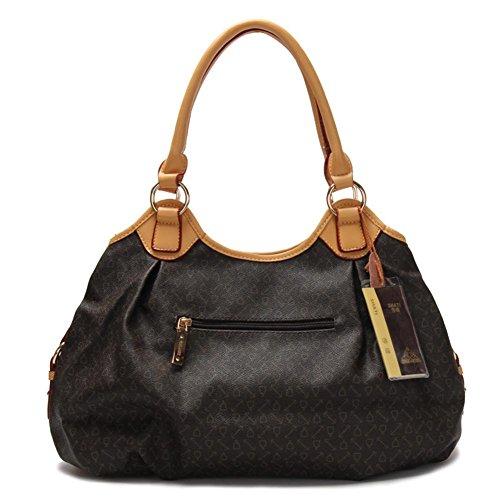 GBT Handtasche, kleines Paket, Schulter-Beutel. Dame, einfach Dark Brown