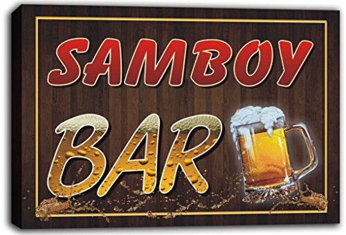 scw3-102572-samboy-name-home-bar-pub-beer-mugs-cheers-stretched-canvas-print-sign