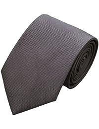 CAOFENVOO Mens Solid Woven Silk Necktie Wedding tie