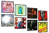 6er Set Schallplattenrahmen Albumrahmen - Bilderrahmen für heissgeliebte LP Plattencover, schwarz