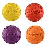 4x Frisbee Dog Disc Wurfscheibe Apportierspielzeug - schwimmfähig ⌀18 cm