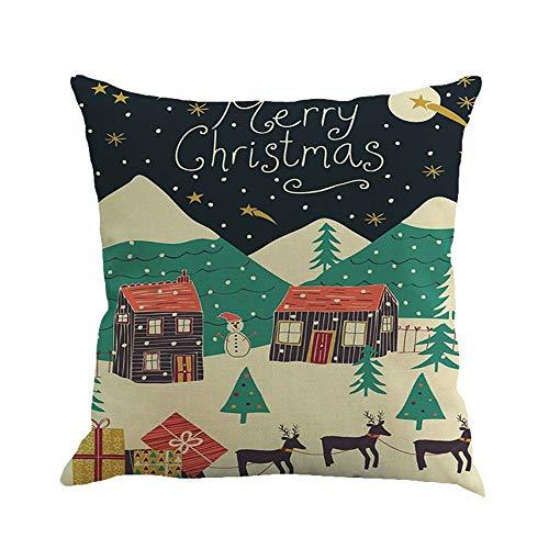 Gsgdae Weihnachts-Kissenbezug, Weihnachtsmotiv, sehr weich, zum Färben, dekorativer Kissenbezug für Sofa, 45,7 x 45,7 cm - Guinness-bier Etikett