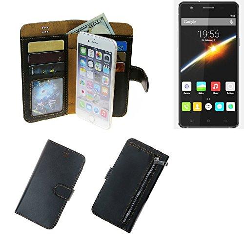 K-S-Trade Cubot S500 Schutz Hülle Portemonnaie Case Phone Cover Slim Klapphülle Handytasche Schutzhülle Handyhülle schwarz aus Kunstleder (1 STK)