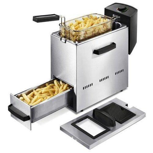Nova 180200 friteuse-friteuse - 1,5 l, single, acier inoxydable, stand-alone, 1500W, 230 v)