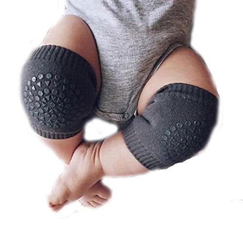 Sannysis rodilleras protector para bebé niños calcetines de arrastre antideslizantes (Gris