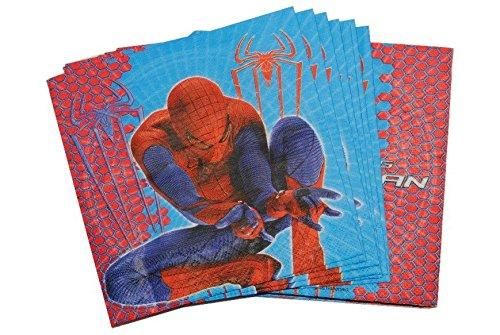 20 STK. Servietten Spiderman Geburtstag Kinderparty Kindergeburtstag Spider Man Marvel Junge Spinne (Spiderman-geburtstag-kerze)