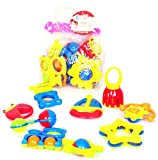#5: Toys Bhoomi Infants & Toddlers Colorful 9 Piece Baby Rattles Musical Sound Toy for New Born with Storage Bag - BPA Free, 100% Safe & Non-Toxic