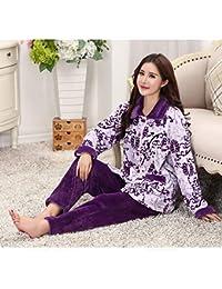 d57de4500f2d SALICEHB Pijamas De Las Mujeres del Otoño Fija El Collar Turn-Down Femenino  Ropa De