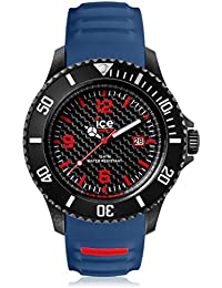 Ice-Watch - ICE carbon Black Blue - Blaue Herrenuhr mit Silikonarmband - Chrono - 001317 (Extra Large)