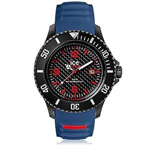 Ice-Watch - ICE carbon Black Blue - Montre bleue pour homme avec bracelet en silicone - Chrono - 001317 (Extra Large)
