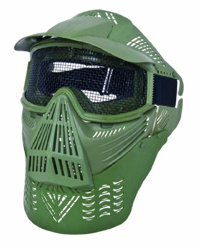 GSG Vollschutzmaske mit Gitter, oliv, 203903 zu GSG