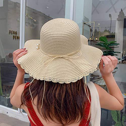 OECHWOZG Sonnenhüte für Frauen Sommer Strand Hut Floppy Wide Brim Faltbare Packable UV-Schutz Sonnenhut Womens Outdoor Cap Travel Visor Caps - Brim Packable Floppy-hut