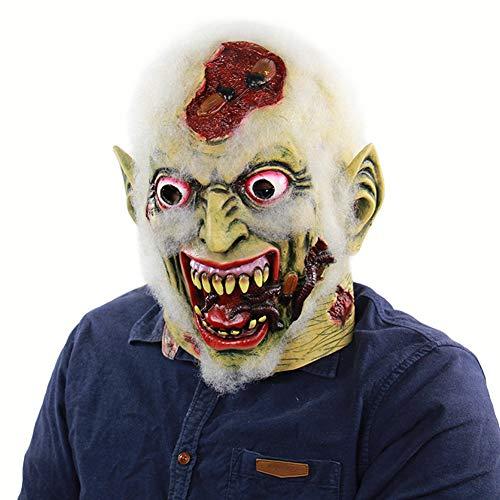 BEIAKE Halloween Horror Faule Leiche Latex Maske Lebensechte Cosplay KostüM Party Requisiten füR MäNner Frauen Und Kinder (Uk Halloween-kostüme Herren Beste)