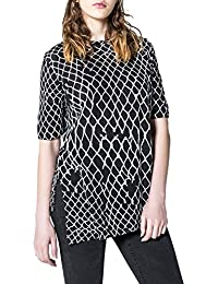 Cheap Monday Women's Release Top Fence Black Top With Print Viscose