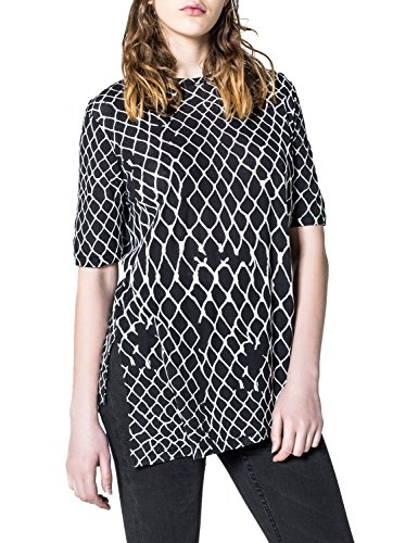 Cheap Monday Women's Release Top Fence Black Top With Print In Size M Black