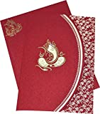 GaneshJi Designed Mehroon Coloured Beautiful Wedding Invitation Card - Best Reviews Guide