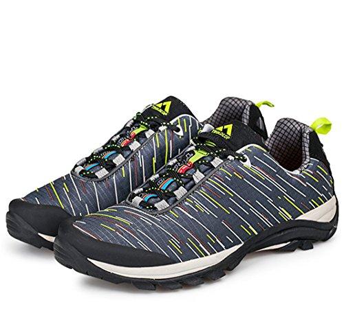 chaussures Unisex Adult Anti porter Beau Derbies hiver Sneakers marchant Noir