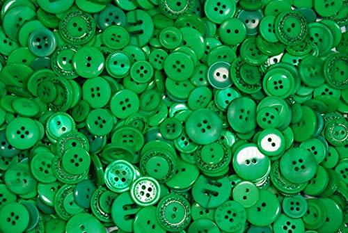 Celloexpress® Grüne Knöpfe, verschiedene Größen, verschiedene grüne Knöpfe zum Nähen und Basteln, grün (Girl-scout-puppe)