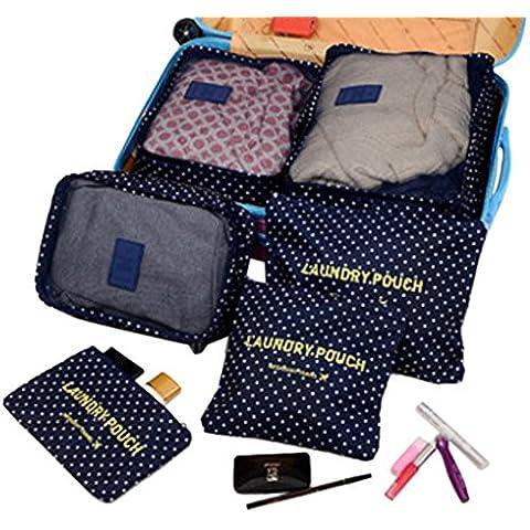 BAO CORE-Confezione da 6 cubetti da viaggio per bagagli, in