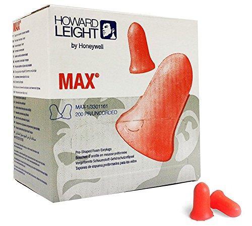 Howard leight MAX-1 - Tapones para los oídos, 200 pares
