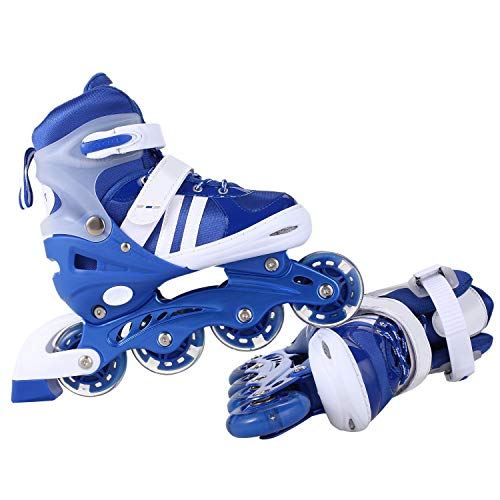 Assemble Adjustable Inline Skates Adults Kids Rollerblades,Roller Skates with Featuring All Illuminating Wheels, for Girls and Boys