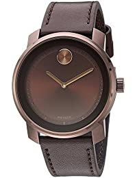 Movado Men's Bold Brown Ion Plate Watch 3600377