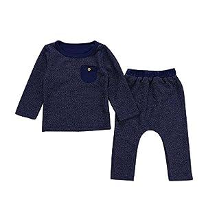 PLOT Clearance 2Pcs Newborn Baby Pockets+Pants Summer Kids Clothes Infant Outfit Set 0-2T