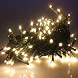 tokodir 8funzioni di ecrt 300ER catena luminosa LED bianco caldo cavo verde a batteria con ...