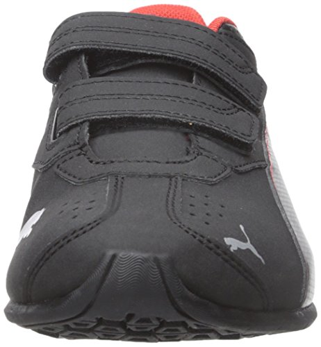 Puma Tazon 6 SL Wide Inf Large Synthétique Baskets Black-High Risk Red-Silver