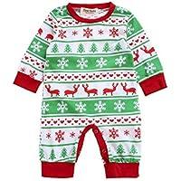 Xinantime - Ropa para mameluco de manga larga de Navidad para bebés 0-2 Años