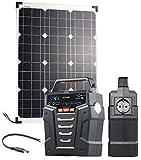 reVolt Solaranlage: Solar-Generator & Powerbank mit 50-W-Solarzelle & Anschlusskabel, 75Ah (Solar-Akku-Powerbank)