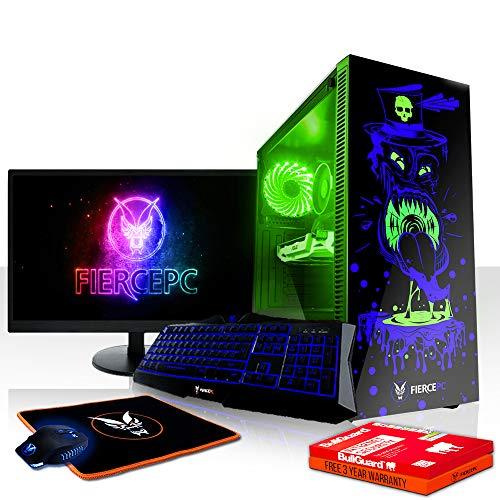 Fierce Reaper RGB Gaming PC Bundeln - Schnell 3.6GHz Quad-Core Intel Core i3 8100, 240GB SSD, 1TB Festplatte, 8GB 2666MHz, NVIDIA GeForce GTX 1060 3GB, Tastatur (QWERTZ), Maus, 24-Zoll-Monitor 1002936