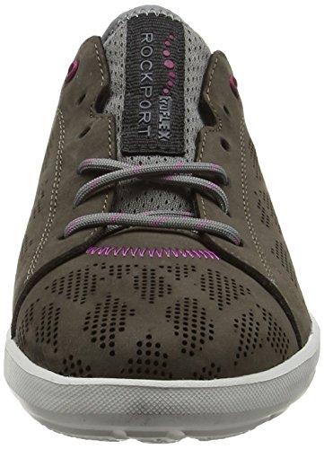 Rockport Damen Truflex W Lace Toe Sneaker Beige (dark Stone Nubuck)