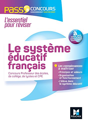 Le systme ducatif franais - 2016-2017 - Concours Enseignement - Masters MEEF