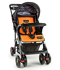 Luvlap Sports Stroller (Black/Orange)