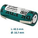 Blackfort Batterie de remplacement pour brosse à dents électrique Braun Oral-B 5000 Triumph 17 x 42 mm avec cellule 4/5 A Sanyo/FDK