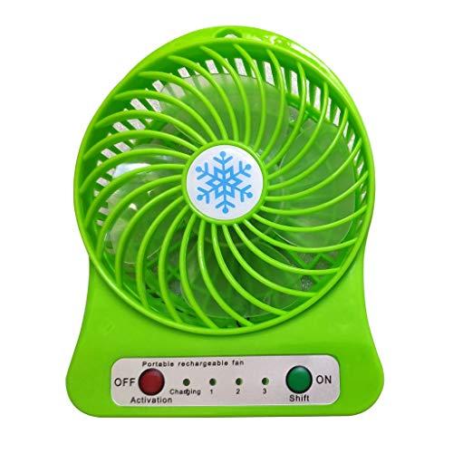 La mano portátil recargable del pequeño ventilador lleva el ventilador eléctrico del...