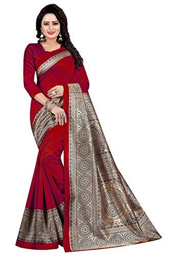 Manorath Cotton Saree (FWS-1599-Red_Red_Free Size)