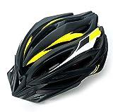 Kinglead Fahrradhelm Einstellbarer Sicher heitsschutz Leicht Fahrradhelm für Fahrradfahren BMX Scooter Skate Mountain Road Fahrradhelm mit CE Zertifikat (Schwarz gelb weiß)