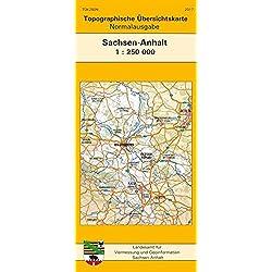 Topographische Übersichtskarte Sachsen-Anhalt 1:250 000: Normalausgabe (TÜK 250) (Topographische Übersichtskarten Sachsen-Anhalt 1:250000)