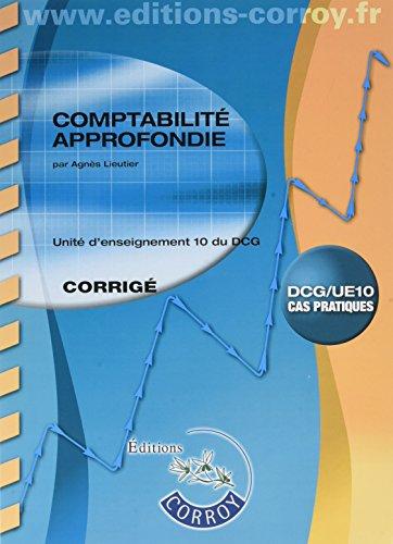 Comptabilit approfondie Corrig: UE 10 du DCG