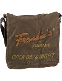 Frankie's Garage Shoulder Bag S11081004-020 - Bolso de hombro de lona unisex