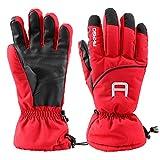 AKASO Ski Handschuhe Rot-S