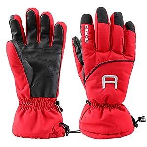 AKASO 3M Thinsulate Handschuhe Skihandschuhe Winterhandschuhe Thermohandschuhe extrem warm wasserdicht Winddicht Rutschfest atmungsaktiv für Herren und Damen