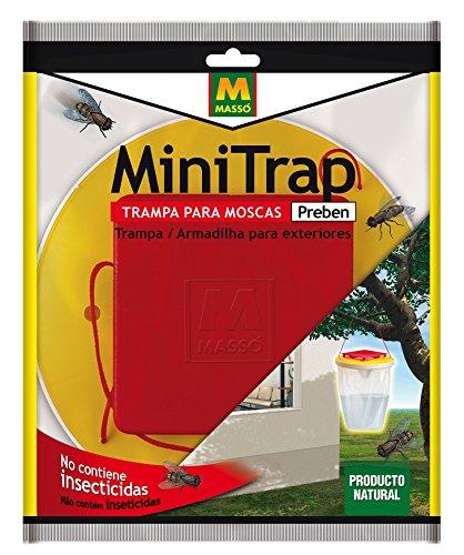 Preben 231081 – Minitrap, piège à mouche extérieur, 21,4 x 29 x 2 cm, couleur rouge