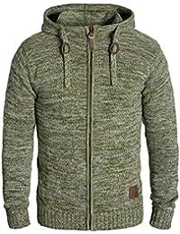 SOLID Pancras Herren Zip-Hoodie Strickjacke Cardigan mit Kapuze aus 100% Baumwolle Meliert