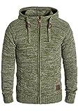 !Solid Pancras Herren Zip-Hoodie Strickjacke Cardigan mit Kapuze aus 100% Baumwolle Meliert, Größe:L, Farbe:Ivy Green (3797)