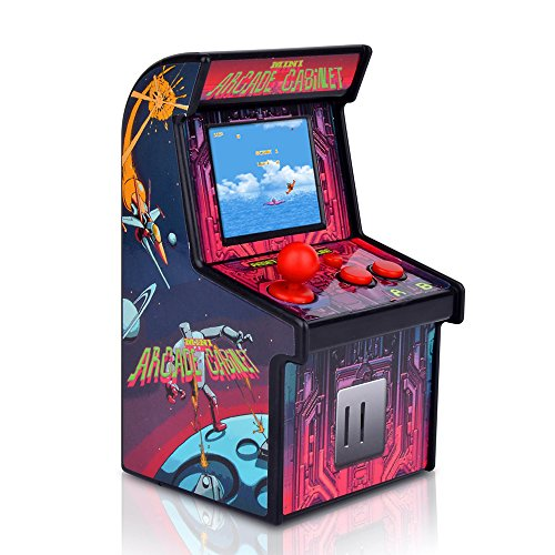 Docooler Mini Arcade Games Retro Tiny Video Game Arcade Cabinet para Niños Portátil Electronic Handheld Gaming Console con 200 Juegos Clásicos Rose Red