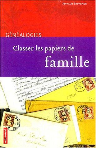 Classer les papiers de famille
