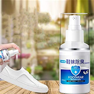 IGEMY Shoe Deodorizer Spray Effective Foot and Shoe Deodorant Spray Destroys Odor Bacteria (White)